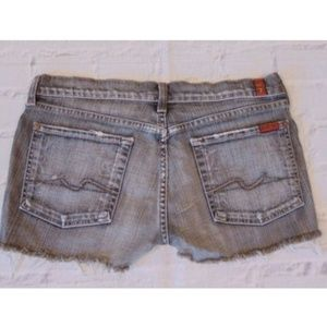7 Seven For All Mankind Jeans Cut Off Shorts Sz 31